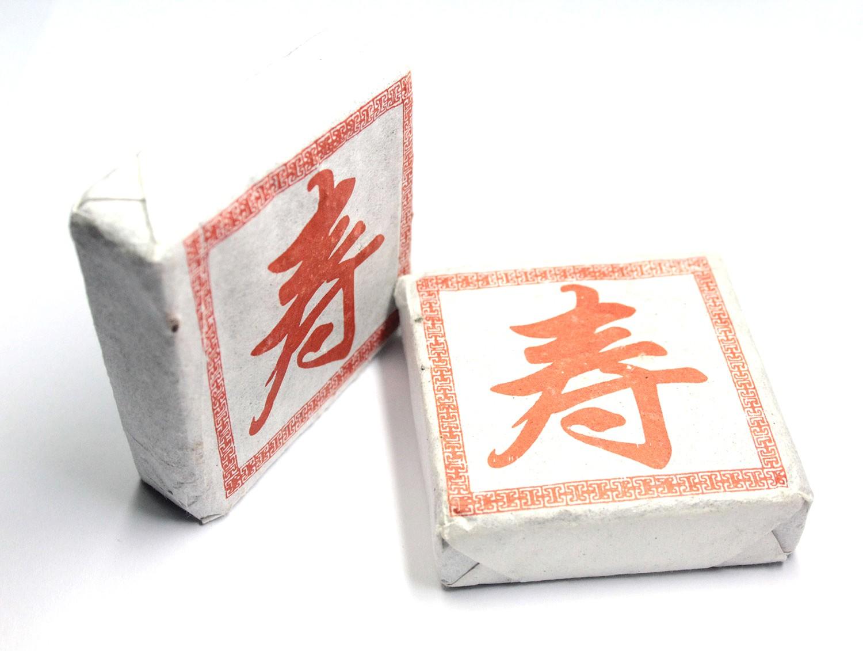 Прессованный Пуэр Черный квадрат 50г Шен