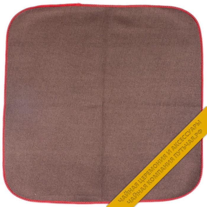 Купить двухстороннее полотенце коричнево-бардовое