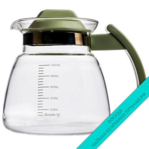Купить Чайник стеклянный с пластм. крышкой 1000 мл