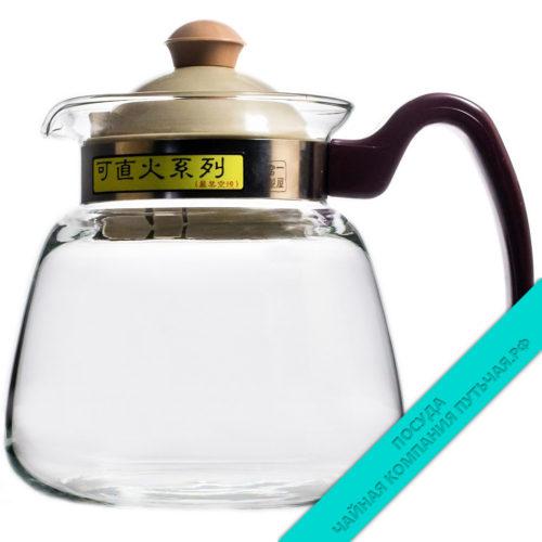 Купить Чайник для заварки из стекла с пластм. крышкой 600 мл