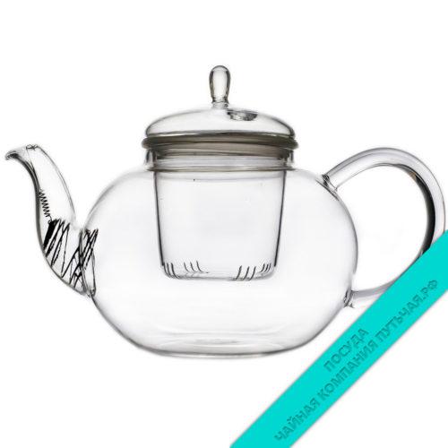 Купить заварочный чайник Кувшинка из стекла 1000 мл из стекла