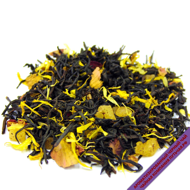 Купить Ароматизированный чёрный чай с добавками Чёрная роза оптом и в розницу