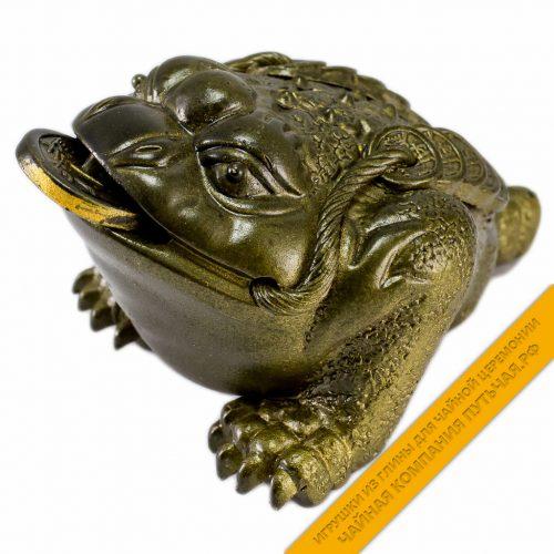 Купить игрушку для чайной церемонии Лягушка из глины Мей