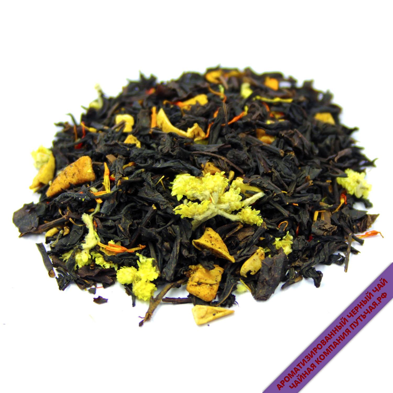ароматизированный чёрный чай с добавками Груша гранат