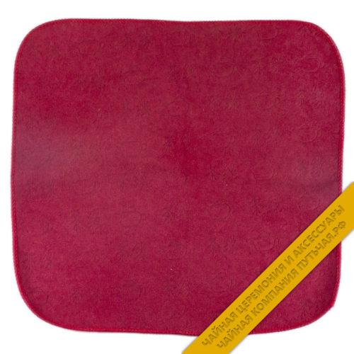 Купить полотенце бардовое с рисунком