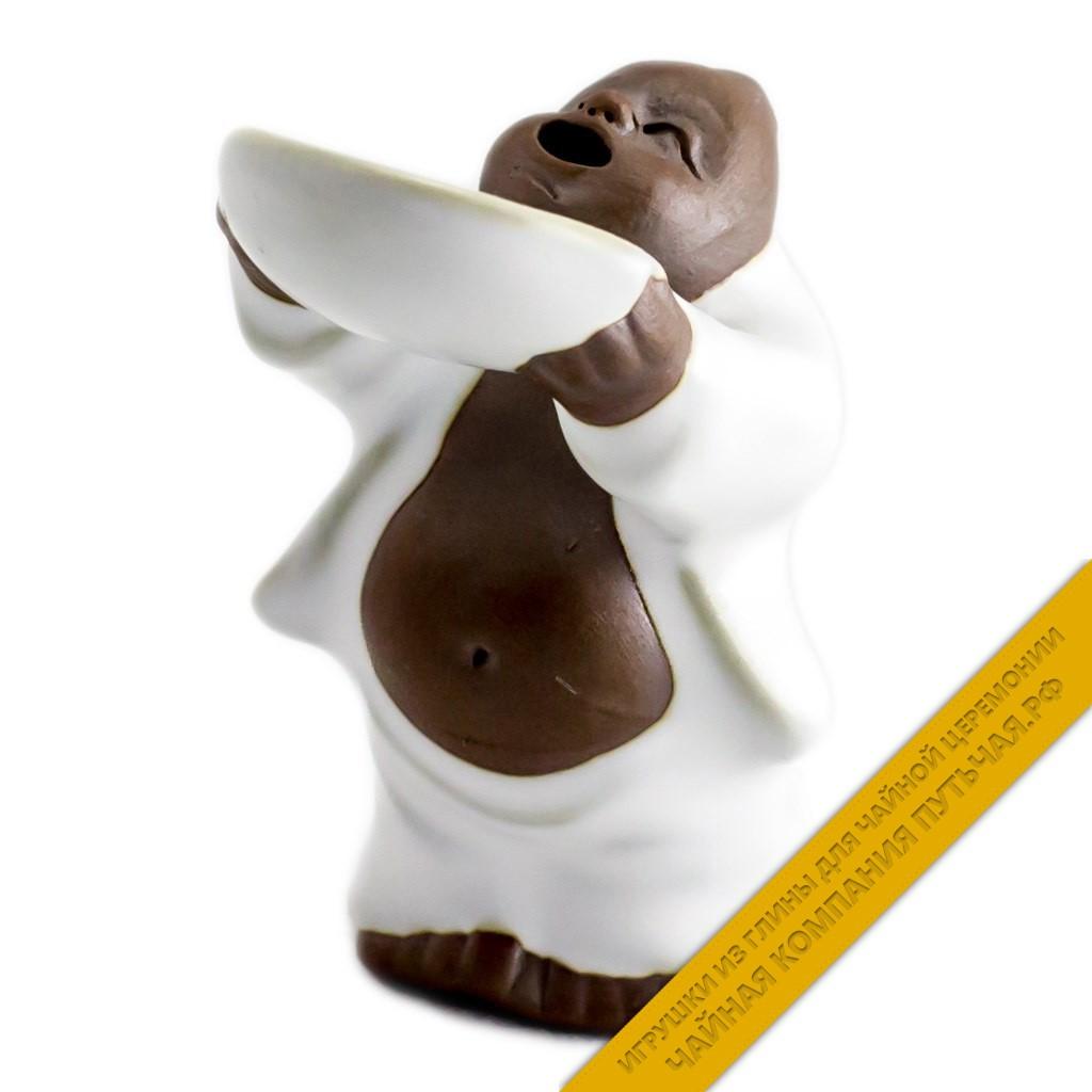 Купить игрушку для чайной церемонии Просящий (белый)