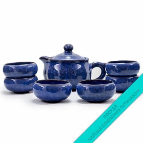 """Купить Чайный набор из фарфора """"Океан"""" с чайником низкая цена"""