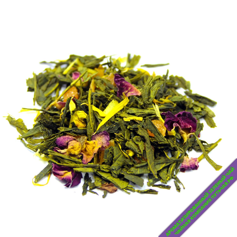 Купить ароматизированный зелёный чай с добавками Совершенство с кусочками ягод оптом и в розницу