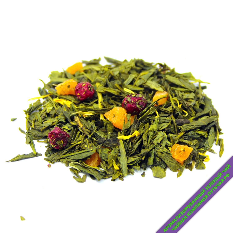 Купить зелёный ароматизированный чай с добавками Мишки Гамми оптом и в розницу