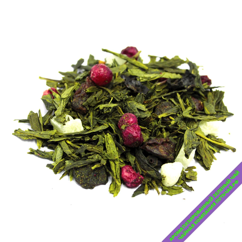 Купить Ароматизированный зеленый чай с добавками Спелый барбарис оптом и в розницу в интернет магазине: низкая цена, доставка