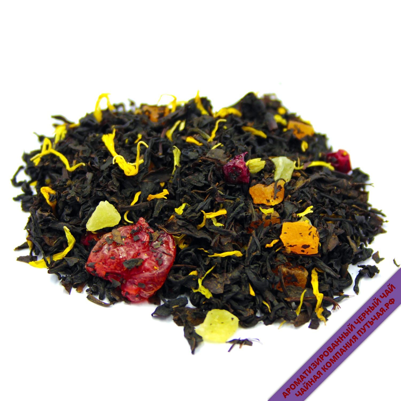 Купить чёрный ароматизированный чай с добавками Мишки Гамми оптом и в розницу