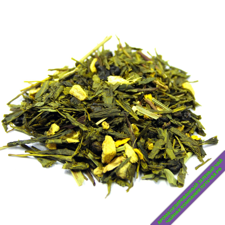 Лимон с имбирем - Зелёный чай с добавками