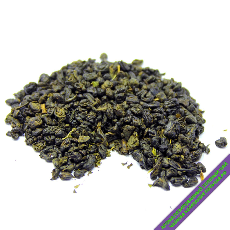 Купить Зелёный ароматизированный чай с добавками Нежная мята оптом и в розницу