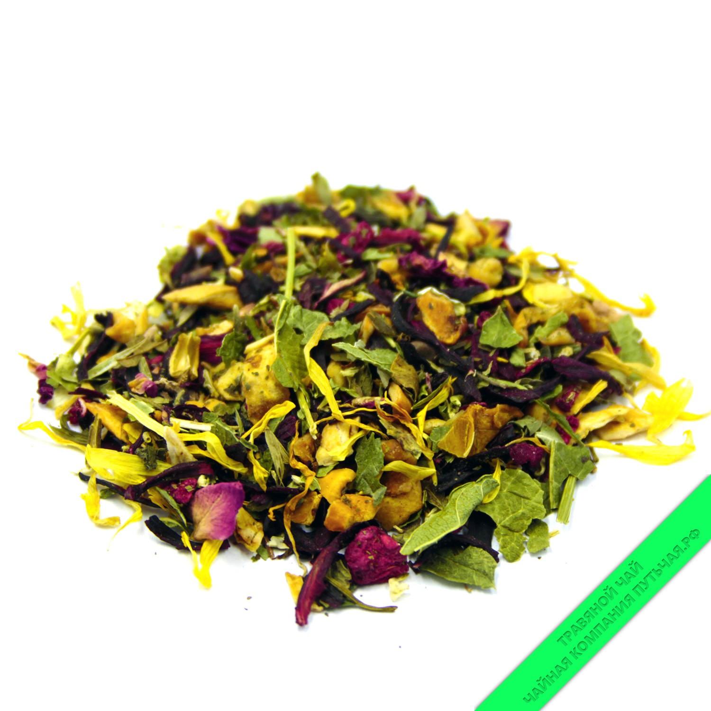 Купить травяной чай сбор Малина с Мятой и каркадэ оптом и в розницу