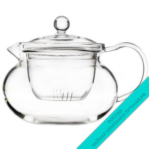 Купить чайник для заварки чая Орхидея из стекла 500 мл