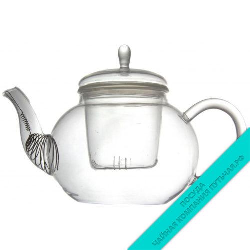 Купить чайник Кувшинка заварочный 800 мл (стекло)