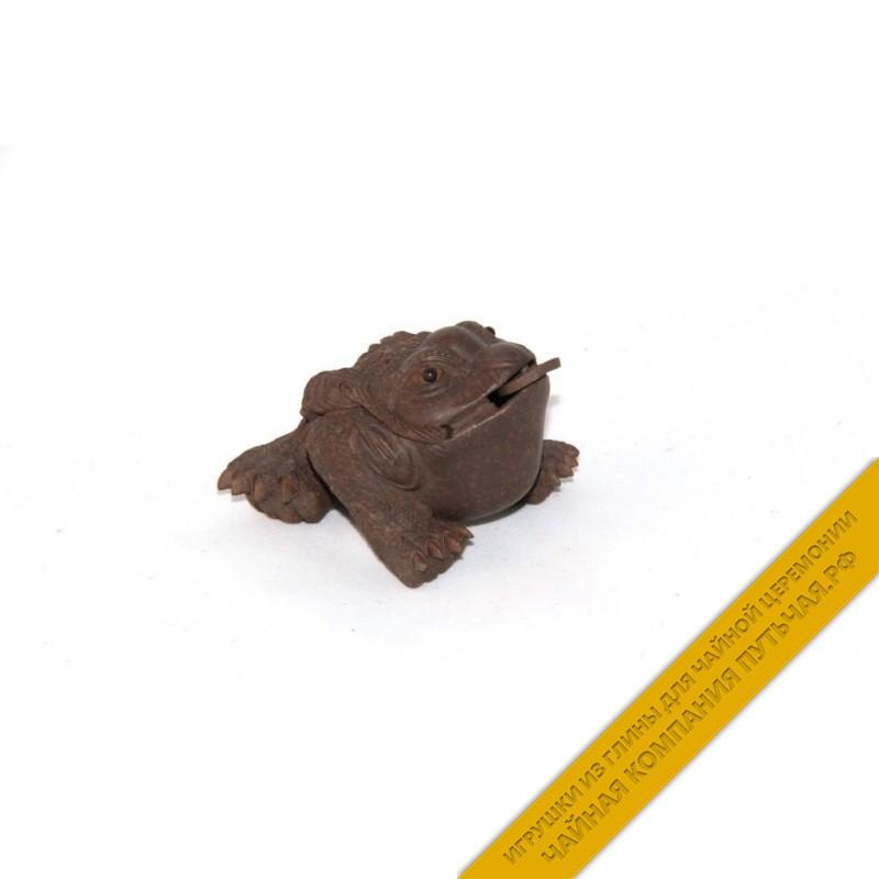 Купить чайную игрушку из глины Лягушка - Достаток