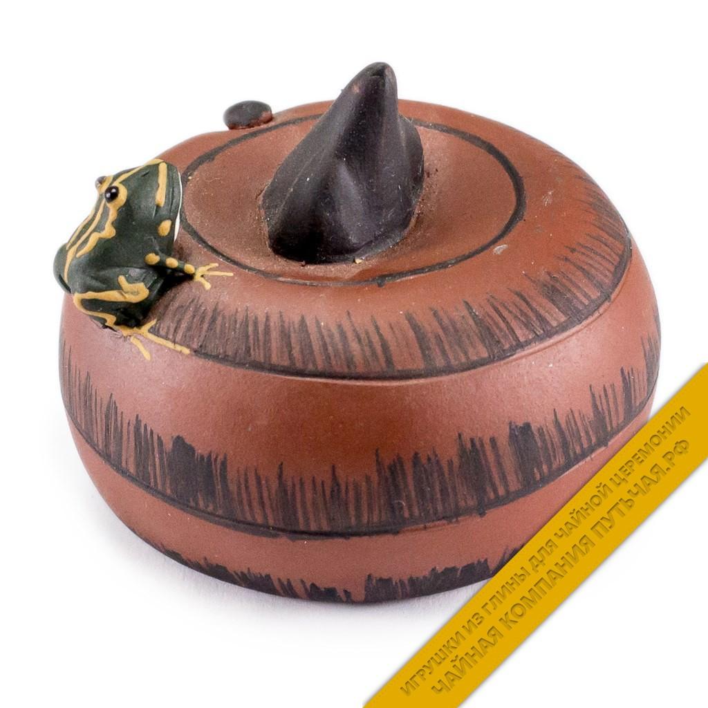 Купить игрушку для чайной церемонии из глины Лягушка