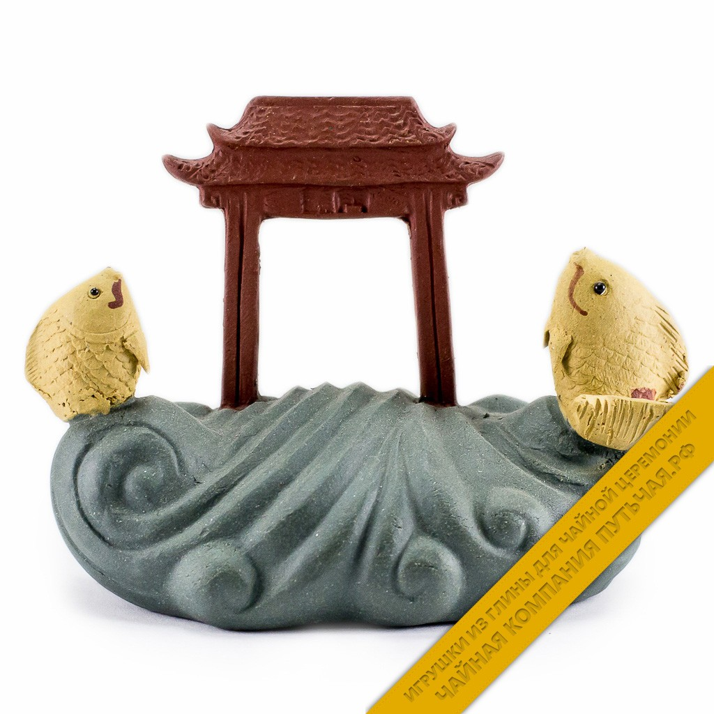 Купить чайную игрушку из глины Рыбы