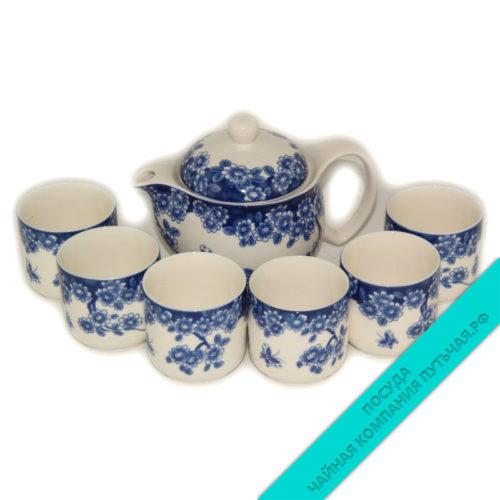 Сервиз чайный (фарфор) 6 персон