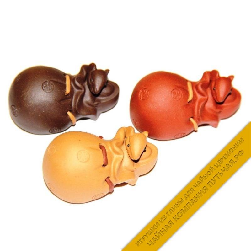 Купить чайную игрушку из глины Мышка