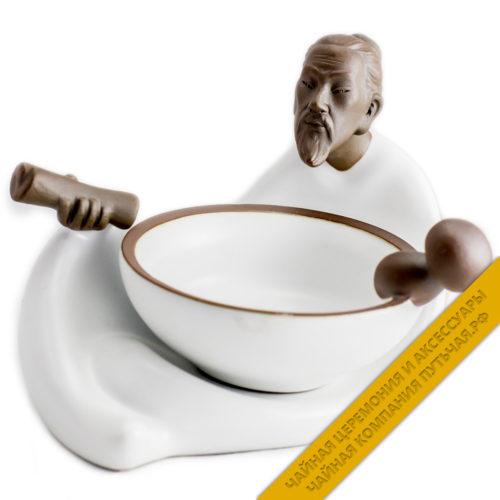 Купить ситечко для заварки чая Люй белый с подставкой