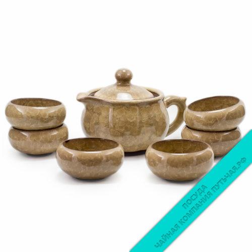 """Купить чайный набор из фарфора """"Нежность"""" с кувшинчиком низкая цена"""