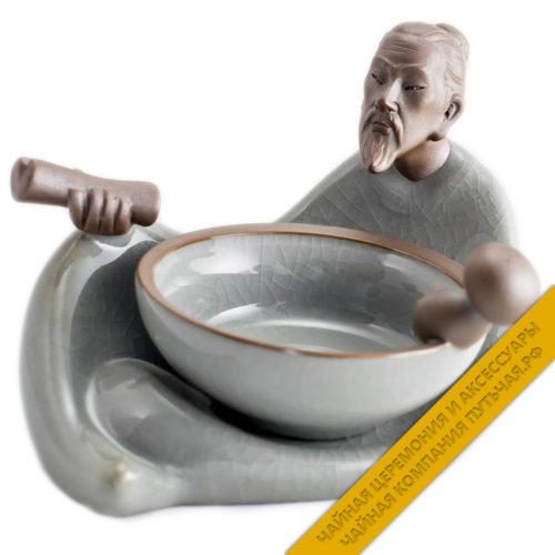 Купить ситечко для заварки чая Люй серый с подставкой