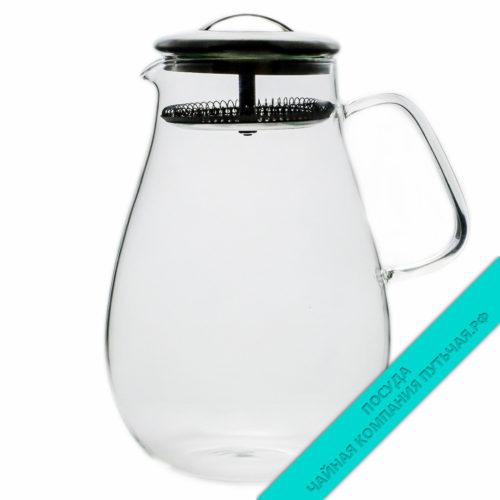Купить чайник для заварки Ноктюрн из стекла, с фильтром 1000 мл