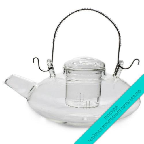 Купить заварной чайник Сакура, с металлическим ситом из (стекло) 1000 мл