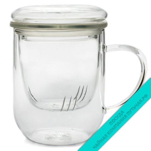 Купить заварочную чашку из стекла 350 мл оптом и в розницу, низкая цена, доставка