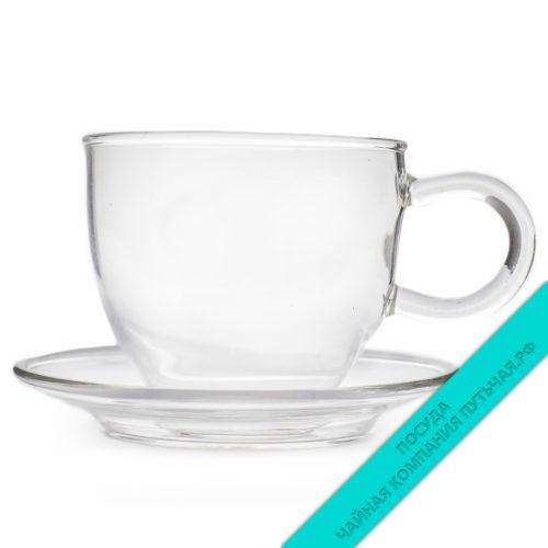 Купить чайную пару из стекла недорого в интернет магазине