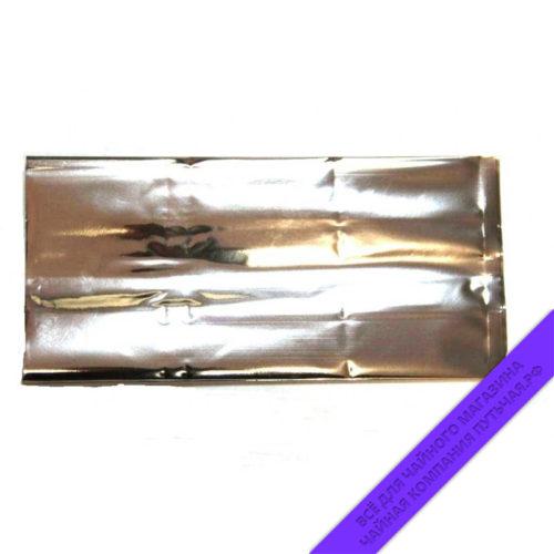 Купить металлизированные пакеты для фасовки чая . 250г, размер 12*7*25 см (серебро) оптом и в розницу