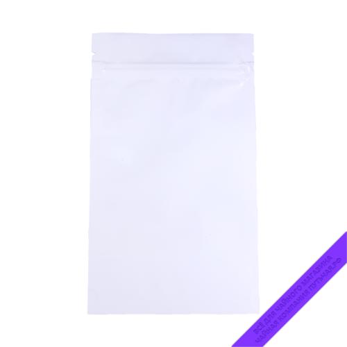 Купить Пакет для фасовки чая (с зипом) 100 г., размер 12*21 см (белыйпрозрачныйглянец) оптом и в розницу, фото, низкая цена