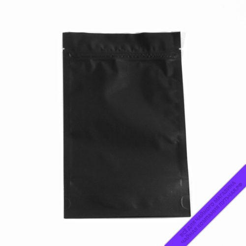 Купить Пакет для фасовки чая и кофе (с зипом) 150 г. Россия, размер 14*22,5 см (чёрныйматовый) оптом и в розницу, фото, низкая цена