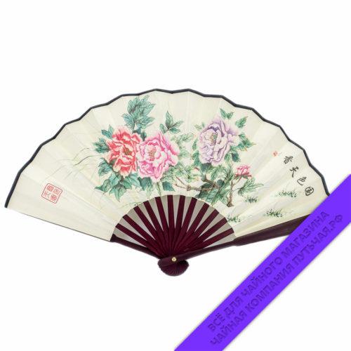 Купить Китайские веера с восточными узорами 27 см: фото, низкая цена