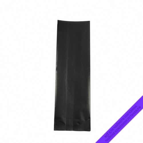 Купить матовый чёрный пакет для фасовки чая и кофе 500 г, размер 40*7*12 см. оптом и в розницу, фото, низкая цена