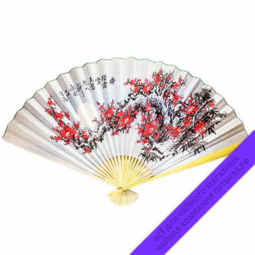 Купить Китайский веер с восточным мотивом 60 см: фото, низкая цена
