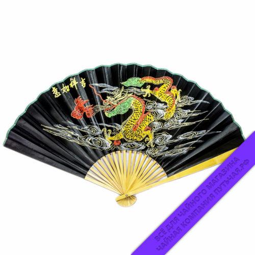 Купить Китайский веер с восточным мотивом 90 см: фото, низкая цена