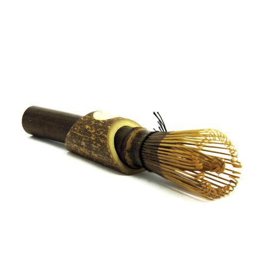 Купить бамбуковый венчик Тясен для взбивания чая Матча (маття) с подставкой