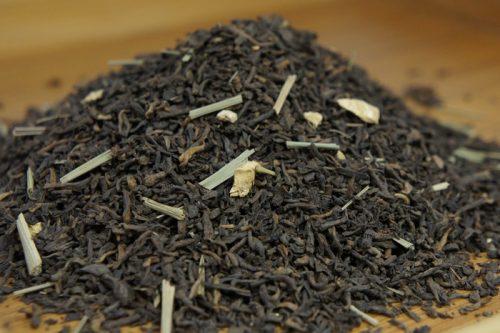 Купить настоящий китайский россыпной чай шу пуэр Бергамот Лайм Оптом и в розницу с доставкой. Фото.