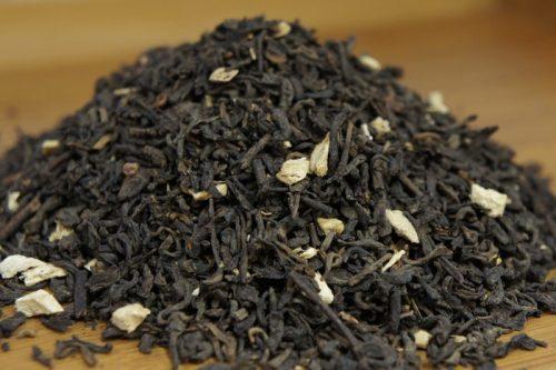 Купить настоящий китайский россыпной чай шу пуэр Имбирь Малина Оптом и в розницу с доставкой. Фото.