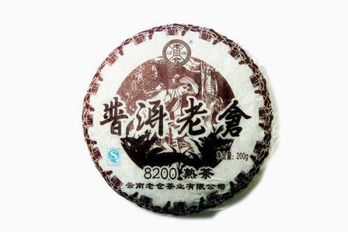 Купить настоящий китайский прессованный чай шу блин пуэр №8200 Оптом и в розницу с доставкой. Фото.