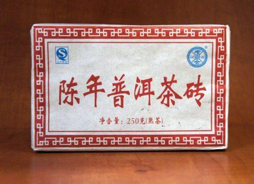Купить настоящий китайский прессованный чай шу кирпич пуэр Потеря Веса Оптом и в розницу с доставкой. Фото.