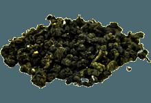 Купить тайваньский чай Светлый Улун Габа Алишань Малахит - Выдержанный оптом и в розницу