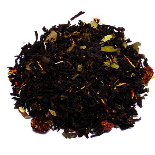 КУПИТЬ знаменитый настоящий легендарный чай чёрный с добавками Малина с ягодами годжи оптом и в розницу, от производителя - со склада из Москвы. Быстрая доставка по РФ. Низкая цена. Фасовка от 25 гр.