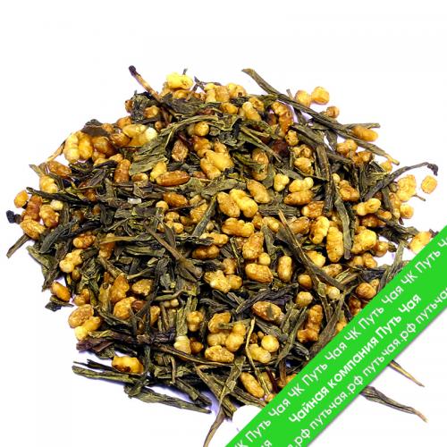 КУПИТЬ знаменитый настоящий легендарный Китайский чай зелёный с добавками Генмайча оптом и в розницу, от производителя - со склада из Москвы. Быстрая доставка по РФ. Низкая цена. Фасовка от 25 гр.